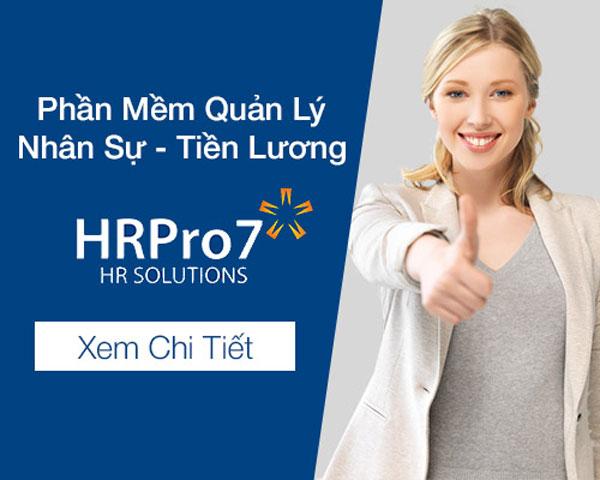 phần mềm nhân sự hrpro7