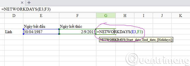 Exel-ham-networkdays