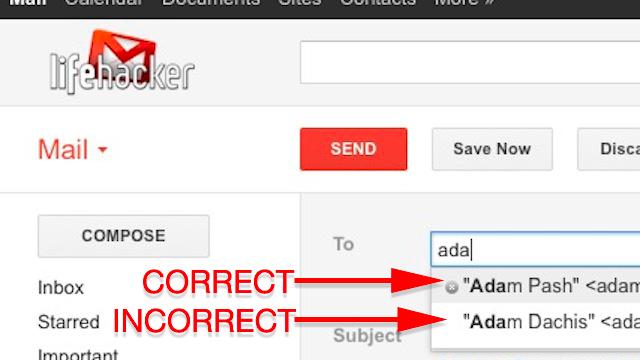 Gửi email sai địa chỉ hoặc gửi tới quá nhiều người
