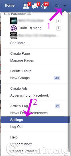 Facebook-chon-settings