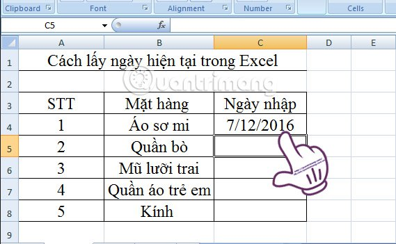 Excel-chen-ngay-hien-tai