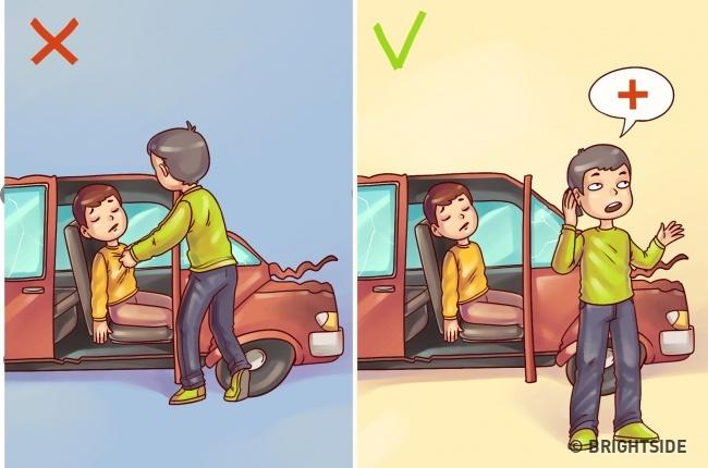 Cứu nạn nhân tai nạn xe