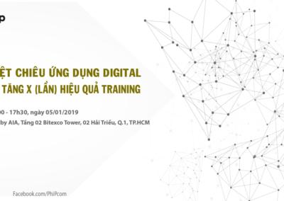 Workshop: Tuyệt chiêu ứng dụng Digital giúp tăng X (lần) hiệu quả Training