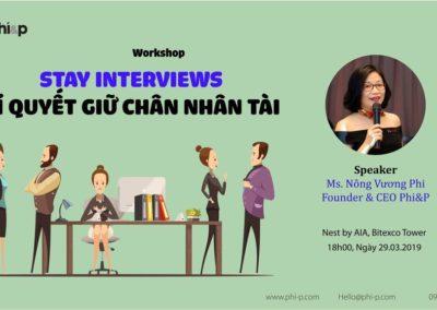 Workshop: Stay Interviews – Bí quyết giữ chân nhân tài